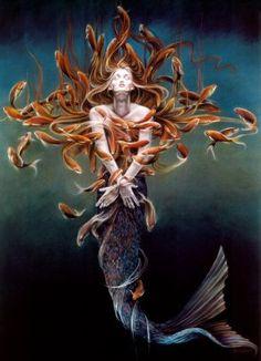 """Sheila Wolk, """"Metamorphosis of a Mermaid""""."""