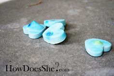 Make your own side walk chalk! Too cute! can't wait to try this!