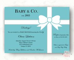 Breakfast at Tiffany's Baby Shower Invitation by PegsPrints