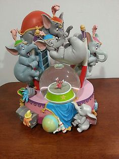 Disney Dumbo Snowglobe Rare Circus Hard to Find