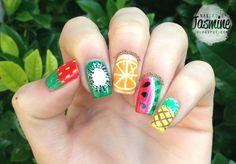 Summer fruit nail art by nailedbyjasmine