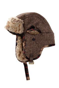 Ben Sherman | Tweed Wool Blend Faux Fur Trapper | Nordstrom Rack