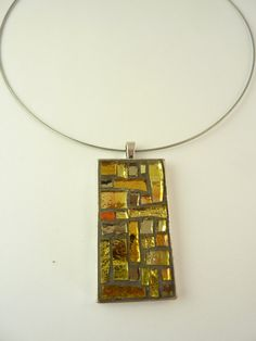 mosaic necklace di MOSAICANDARTS su Etsy