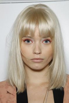 platinum blonde pale skin bangs - Google Search