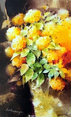Teressa Gili's media content and analytics Watercolor Flowers, Watercolor Paintings, Watercolors, Impressionist, Flower Art, Puzzles, Pen And Wash, Abstract Paintings, Painted Flowers