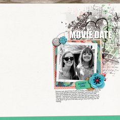 Movie Date - digital scrapbook layout using Gingham Style by The Digital Press designers
