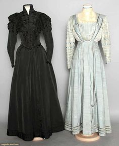 Black Silk Dress, C. 1898, Augusta Auctions, MAY 13th & 14th, 2014, Lot 271