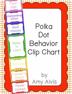 Behavior Clip Chart - Behavior Management - POLKA DOTS, $