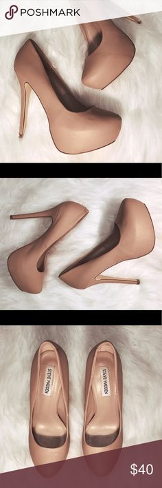 Steve Madden Nala nude pumps - Sz. 8 Bought these for my wife, but she hardly wears them. Her loss, your gain.  According to her they are true to size and very comfortable. Only worn twice. Steve Madden Shoes Heels