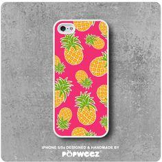 Coque iPhone 5 / 5s Rose Pineapple Ananas  Livraison par POPWEEZ