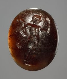 Young satyr. Roman Republican ringstone, 300 BC-100 BC  Sard. 1,4 x 1,1 cm Inventory number: I368
