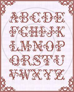 Redwork alphabet