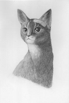 精密画「ばんそうこう猫」[雨尾 きょうすけ] | ART-Meter