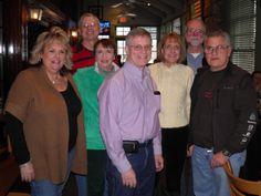 January 14, 2012: Jayne Marts Schmelzer Chrzan ('68), Fred Krey ('66), Chris Bohn Verbal ('68), Paul Loeber ('66), Chris Tishler Davis ('68), Holger Stier ('66), Randy Upton ('66)