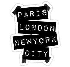 PARIS LONDON NEW YORK CITY by TheLoveShop I think I have an obsession
