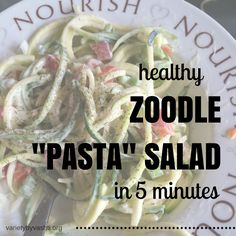 Zoodles are so easy