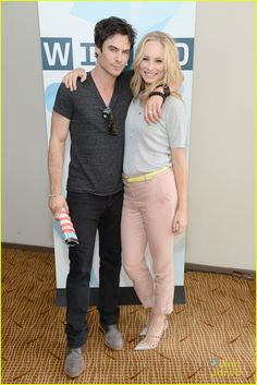 Candice Accola & Ian Somerholder: Wired Cafe at Comic-Con 2013