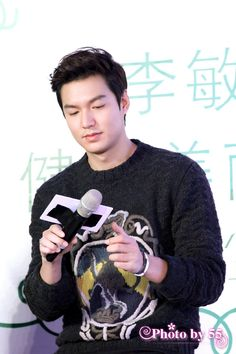 Lee Min Ho at a Tenwow Tea event in Shanghai, 20141019.
