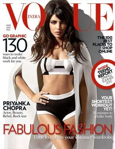 Priyanka Chopra on the cover of Vogue India March 2013 Photos - Pics 231244 Check out Celebrities on Magazine Covers. Vogue Covers, Vogue Magazine Covers, Fashion Magazine Cover, Fashion Cover, Actress Priyanka Chopra, Priyanka Chopra Hot, Bollywood Actress, Bollywood News, Bollywood Fashion