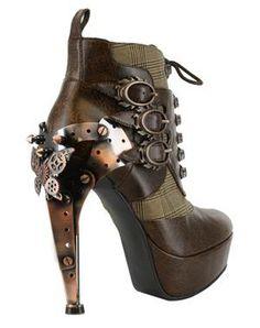 Oxford Steampunk Heel Brown