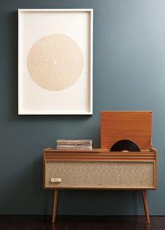 vinyl player.