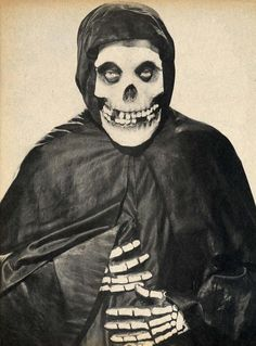 "Original ""The Crimson Ghost"", 1946. This image has been used by punk band, The Misfits, since 1977."