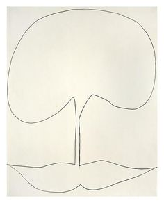 Ellsworth Kelly - Works in Exhibition - Matthew Marks Gallery, Untitled 1960 Graphite on paper 28 1/2 x 22 1/2 inches; 72 x 57 cm