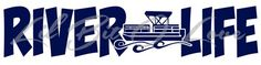 River Life with Pontoon in the Center Party Boat Sticker for Car Auto  | LilBitOLove - Housewares on ArtFire