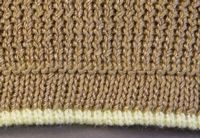 Band with Contrast Piping tutorial for Machine Knitting