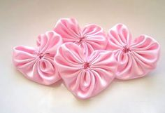 pretty pink heart yo-yos.