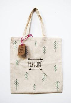 Explore Tote Bag by GabbyandLoisDesigns on Etsy