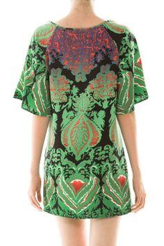 Brocade Printed Shift Dress