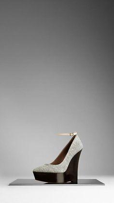 Escarpins compensés à plateforme avec bout pointu | Burberry