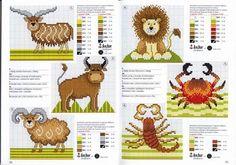Animales infantiles de leones y monitos