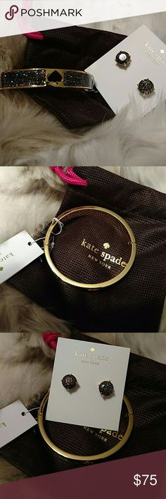 Earring and Bangle Bundle Nwt. Both come with dustbag kate spade Jewelry Earrings