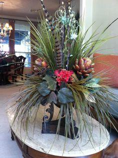 Artichoke & Hydrangea Arrangement by Greatwood Floral Designs.