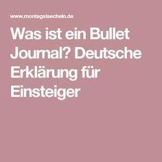 Was ist ein Bullet Journal? Deutsche Erklärung für Einsteiger
