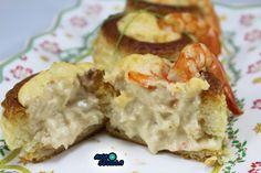 Volovanes de pollo y langostinos Thermomix Baked Potato, Sushi, Baking, Ethnic Recipes, Food, Chicken, Dishes, Sevilla, Bakken