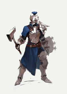 Medieval warrior knight with axe, hammer in heavy armor concept art character design Character Design Cartoon, Fantasy Character Design, Character Design Inspiration, Character Concept, Character Art, Illustration Fantasy, Illustration Vector, Fantasy Art Warrior, Fantasy Armor