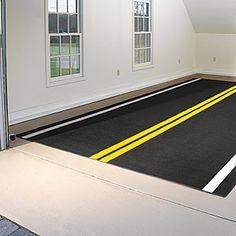 Painted garage floor.  This is kinda fun