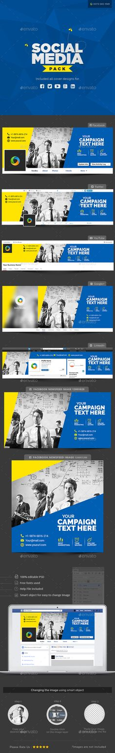Buy Multi Purpose Social Media Pack by Hyov on GraphicRiver. Make a statement with this Social Media pack that puts you in the spotlight. Social Media Packages, 100 Free Fonts, Image Font, New Friends, Cover Design, The Help, Purpose, Packing, Icons