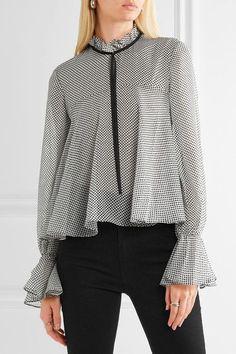 87fc163e97c Saloni - Tyler ruffled polka-dot silk-chiffon blouse