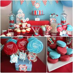 circus party foods | decided to go with red and sky blue as the main color scheme with a ...