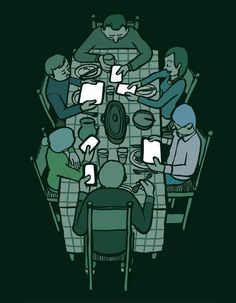 Fine Dining - How Addiction To Technology Is Taking Over Our Lives In Illustrations By Jean Jullien
