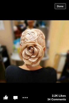 Hair...this would be beautiful for a wedding 'do