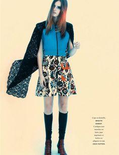 Tilda Lindstam for Elle France December 2014 | The Fashionography