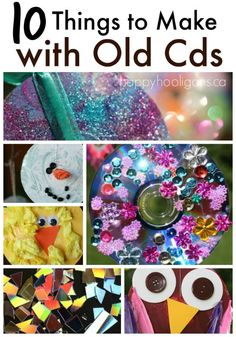 10 Terrific Crafts to make with old scratched CDs. Great for all ages, and something for all seasons! - Happy Hooligans