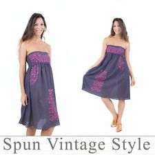 Welcome to Spun vintage style. We have lovingly made, hand embroidered clothes that woman love to wear :) Thank you for shopping by, please take your time and enjoy shopping. Mexican Bridesmaid Dresses, Embroidered Clothes, Boho Hippie, Strapless Dress, Vintage Fashion, Summer Dresses, Wedding Dresses, Beach, Party