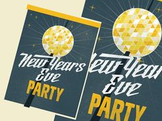 New Year's Eve Party Flyer by Ryder Doty on @creativemarket