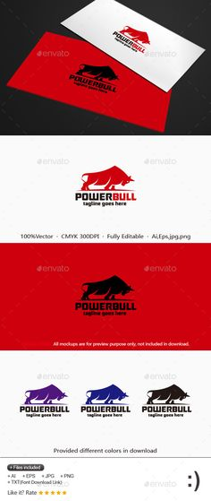 Power Bull Logo  #sport #force #game • Click here to download ! http://graphicriver.net/item/power-bull-logo/11896541?s_rank=663&ref=pxcr